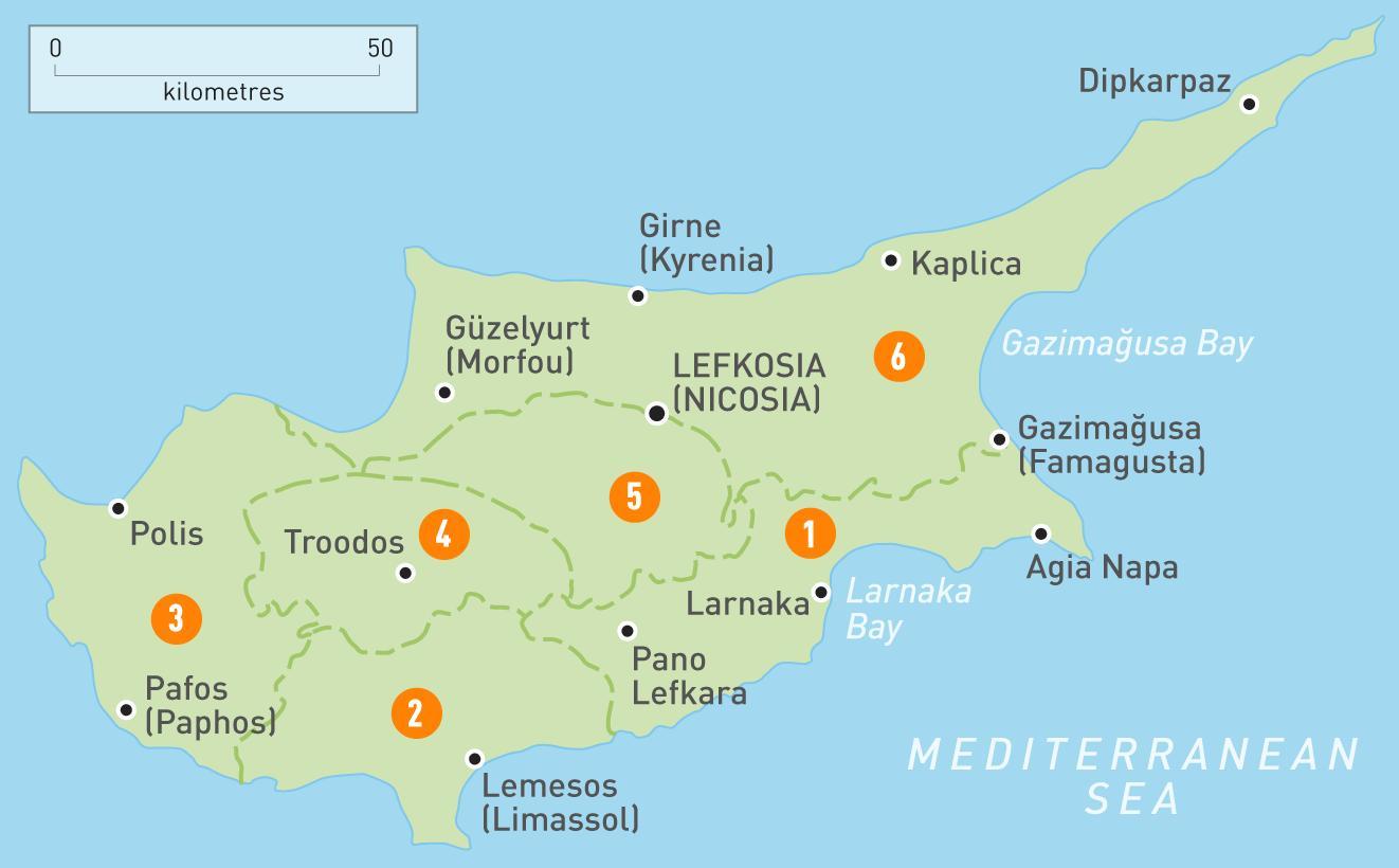 Kyproksen Maa Kartta Kartta Kyproksen Maassa Etela Euroopassa