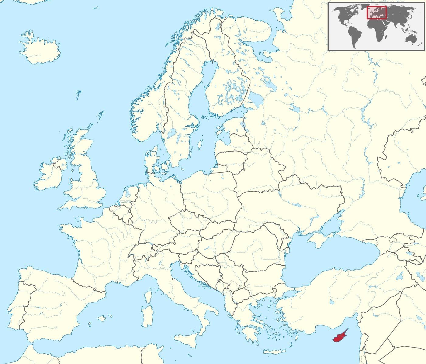 Kyproksen Maailman Kartta Kyproksen Kartta Maailman Etela
