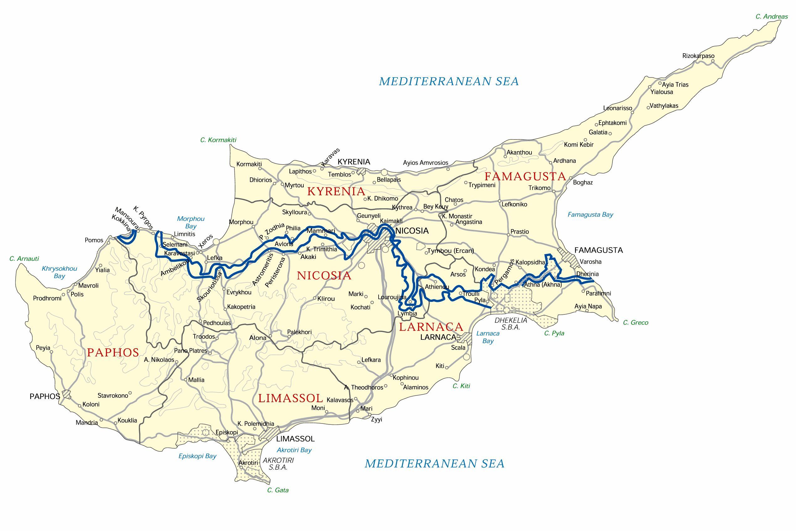 Yliopisto Kyproksen Kartta European University Kypros Kartta