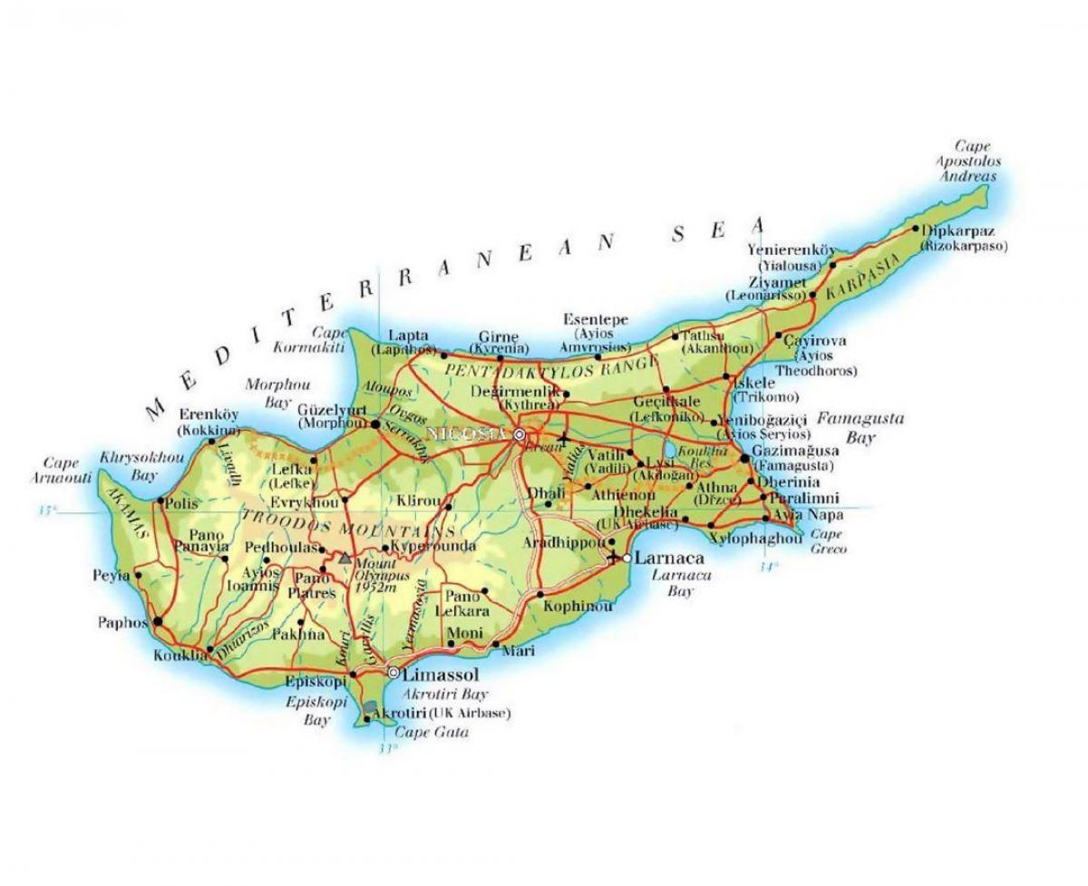 Lapta Kyproksen Kartta Kartta Lapta Pohjois Kypros Etela