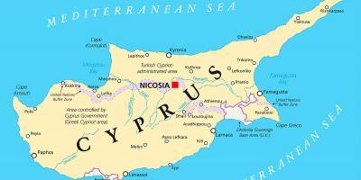 Kyproksen Kartta Kartat Kypros Etela Euroopassa Eurooppa